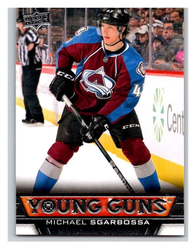 (HCW) 2013-14 Upper Deck #454 Michael Sgarbossa RC Rookie Avalanche YG 02938