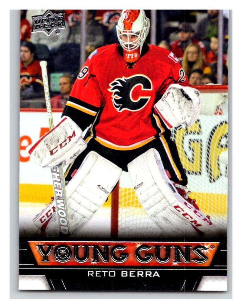 (HCW) 2013-14 Upper Deck #461 Reto Berra RC Rookie Flames YG 02943