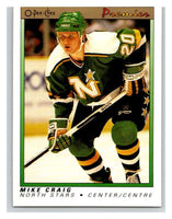 (HCW) 1990-91 OPC Premier #19 Mike Craig RC Rookie North Stars Mint