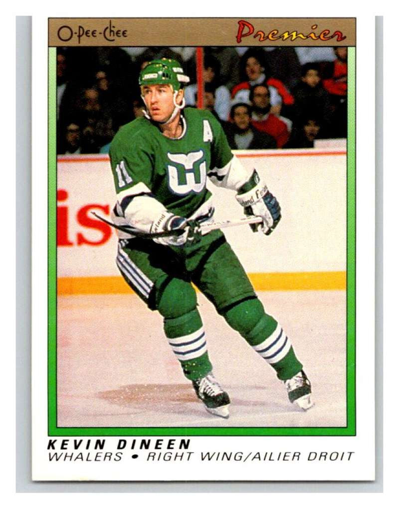 (HCW) 1990-91 OPC Premier #23 Kevin Dineen Whalers Mint