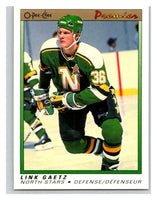 (HCW) 1990-91 OPC Premier #33 Link Gaetz RC Rookie North Stars Mint