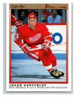 (HCW) 1990-91 OPC Premier #35 Johan Garpenlov RC Rookie Red Wings Mint