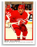(HCW) 1990-91 OPC Premier #107 Mike Sillinger RC Rookie Red Wings Mint