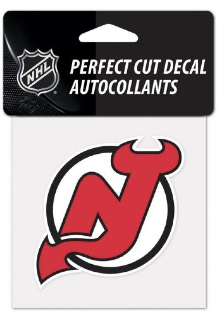 "(HCW) New Jersey Devils Perfect Cut Color 4""x4"" NHL Licensed Decal Sticker"