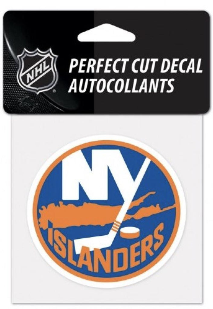 "(HCW) New York Islanders Perfect Cut Color 4""x4"" NHL Licensed Decal Sticker"