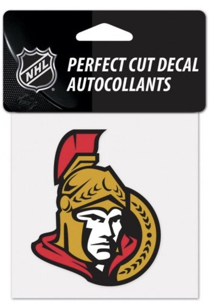 "(HCW) Ottawa Senators Perfect Cut Color 4""x4"" NHL Licensed Decal Sticker"