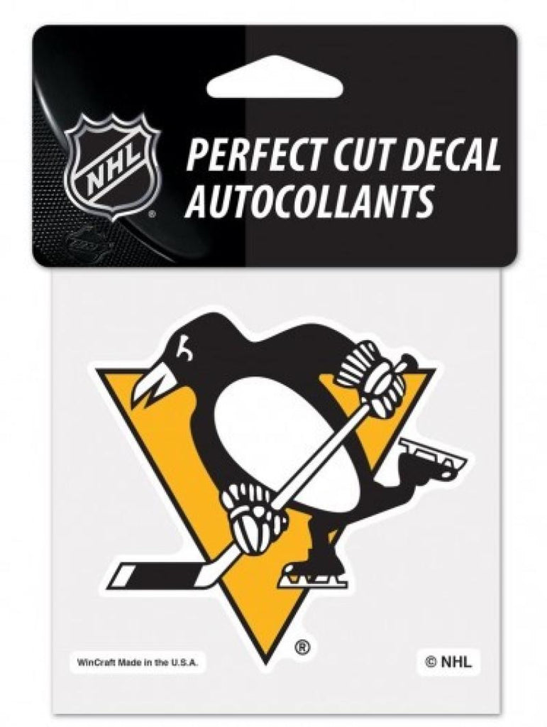 "(HCW) Pittsburgh Penguins Perfect Cut Color 4""x4"" NHL Licensed Decal Sticker"