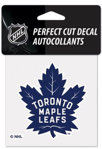 "(HCW) Toronto Maple Leafs #1 Perfect Cut Color 4""x4"" NHL Licensed Decal Sticker"