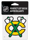 "(HCW) Chicago Blackhawks #2 Perfect Cut Color 4""x4"" NHL Licensed Decal Sticker"