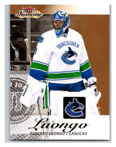 2013-14 Upper Deck Fleer Showcase #97 Roberto Luongo Canucks NHL Mint