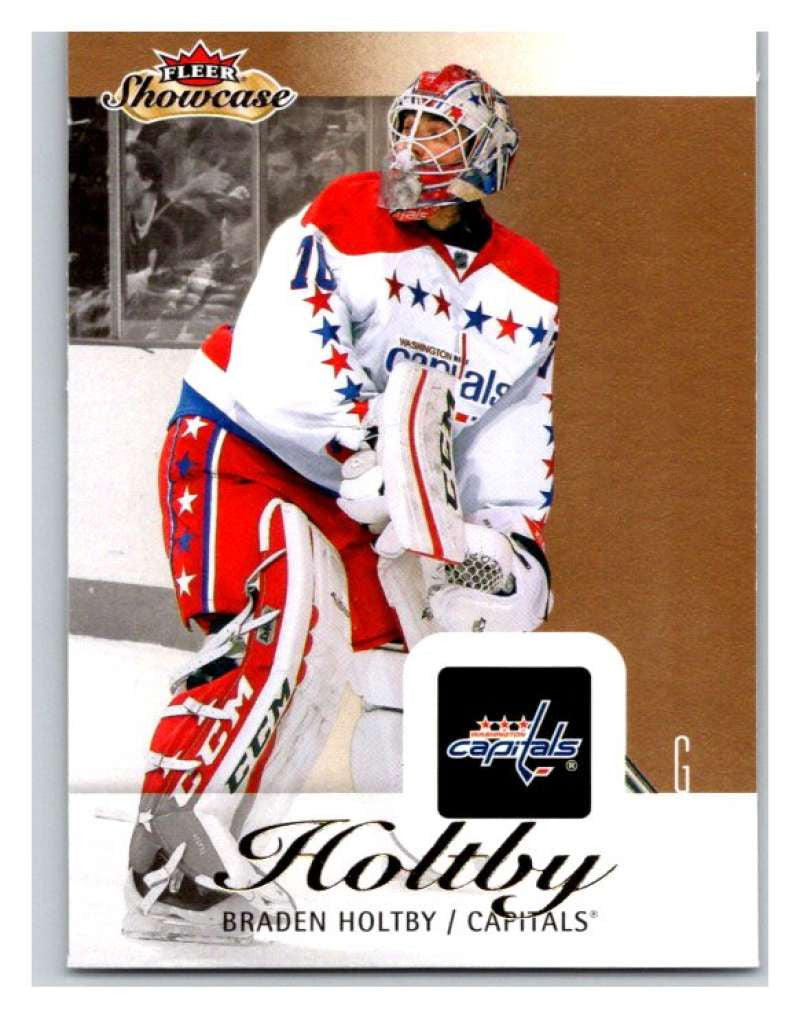 2013-14 Upper Deck Fleer Showcase #98 Braden Holtby Capitals NHL Mint