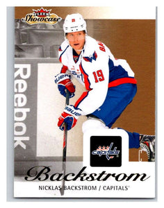 2013-14 Upper Deck Fleer Showcase #99 Nicklas Backstrom Capitals NHL Mint