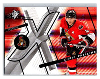 (HCW) 2008-09 SP SPx #31 Chris Phillips Senators Upper Deck NHL Mint