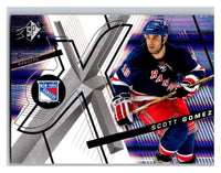 (HCW) 2008-09 SP SPx #33 Scott Gomez NY Rangers Upper Deck NHL Mint
