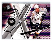(HCW) 2008-09 SP SPx #44 Shea Weber Predators Upper Deck NHL Mint