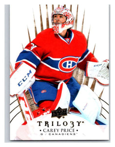 2014-15 Upper Deck Trilogy #45 Carey Price Canadiens NHL Mint
