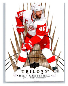 2014-15 Upper Deck Trilogy #82 Henrik Zetterberg Red Wings NHL Mint