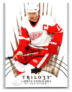 2014-15 Upper Deck Trilogy #100 Steve Yzerman Red Wings NHL Mint