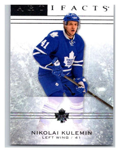 2014-15 Upper Deck Artifacts #100 Nikolai Kulemin NHL Mint