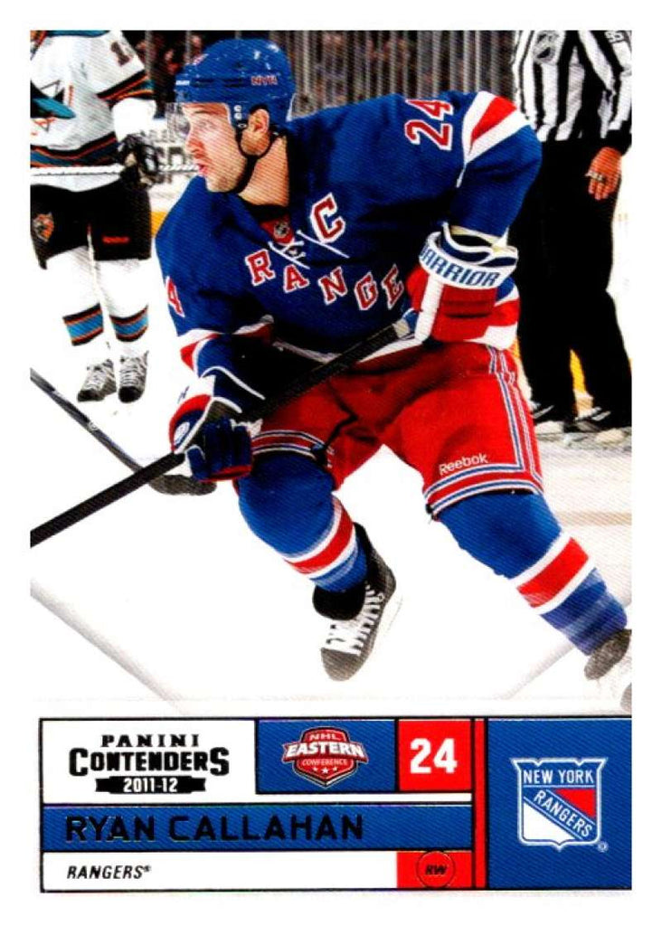 2011-12 Playoff Contenders #24 Ryan Callahan NY Rangers NHL Mint Hockey