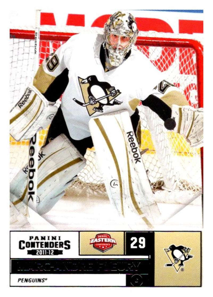 2011-12 Playoff Contenders #29 Marc-Andre Fleury Penguins NHL Mint Hockey