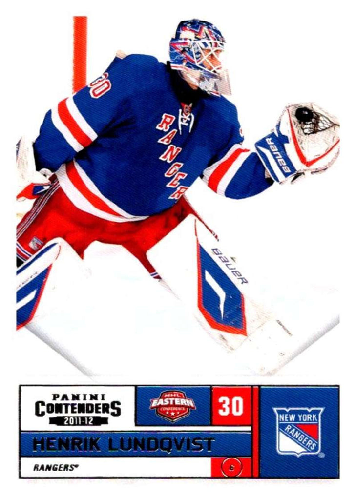 2011-12 Playoff Contenders #30 Henrik Lundqvist NY Rangers NHL Mint Hockey
