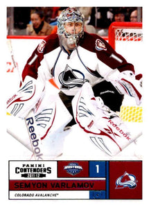 2011-12 Playoff Contenders #56 Semyon Varlamov Avalanche NHL Mint Hockey