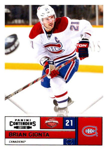 2011-12 Playoff Contenders #75 Brian Gionta Canadiens NHL Mint Hockey