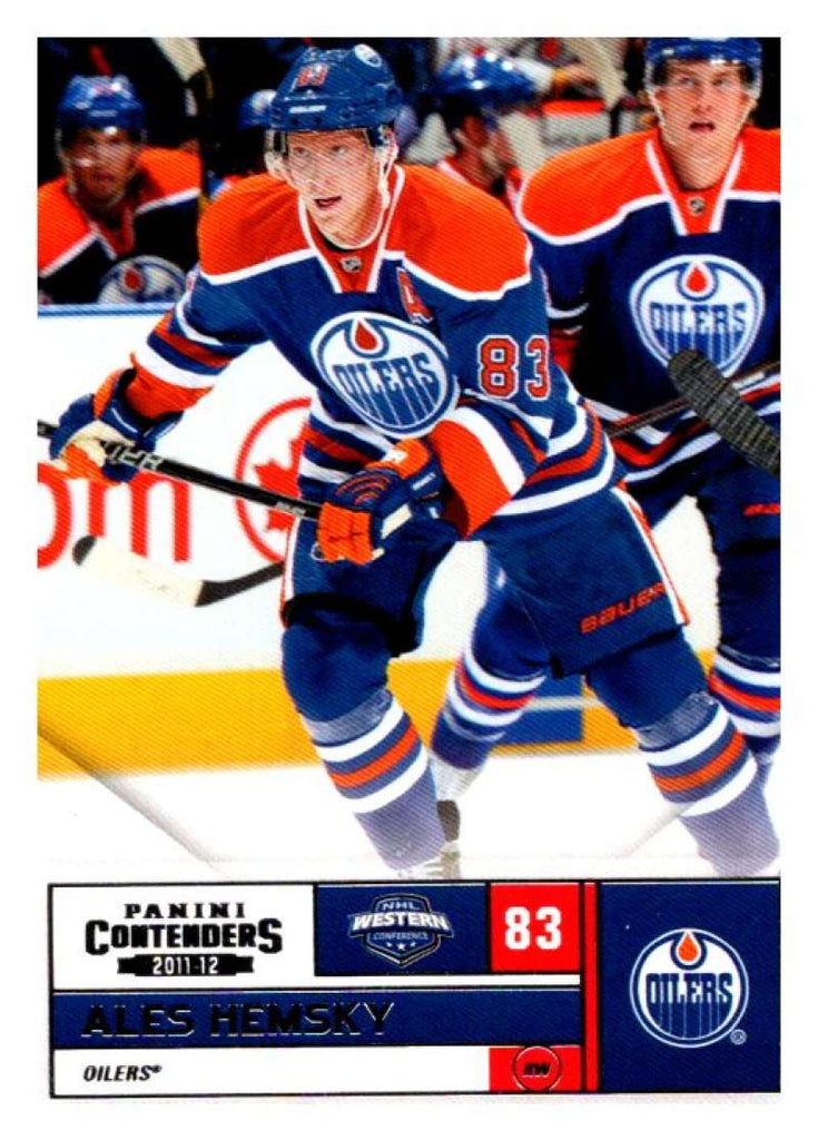 2011-12 Playoff Contenders #83 Ales Hemsky Oilers NHL Mint Hockey