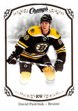 2015-16 Upper Deck Champs #91 David Pastrnak Bruins NHL Mint