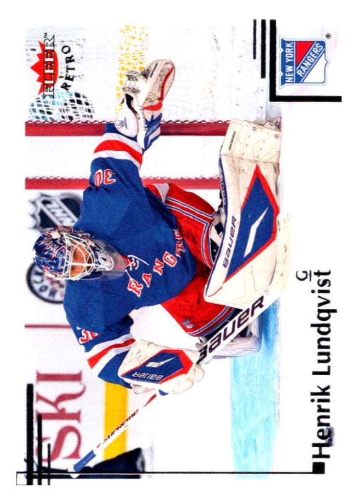 2012-13 Upper Deck Fleer Retro #41 Henrik Lundqvist NY Rangers NHL Mint