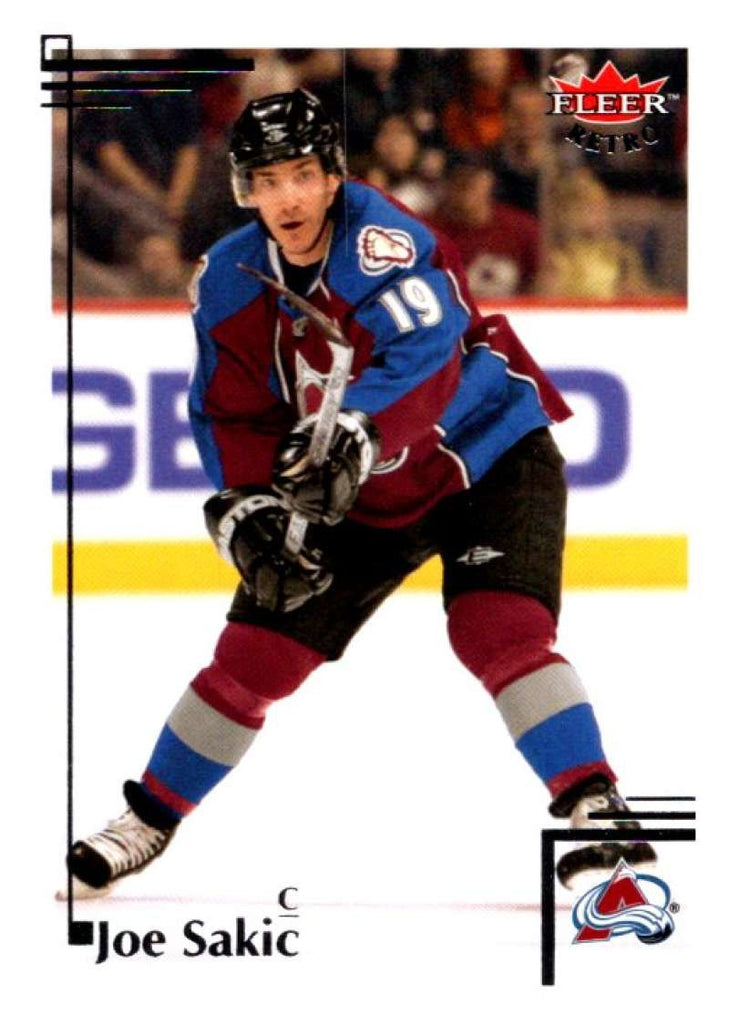 2012-13 Upper Deck Fleer Retro #75 Joe Sakic Avalanche NHL Mint