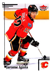 2012-13 Upper Deck Fleer Retro #86 Jarome Iginla Flames NHL Mint