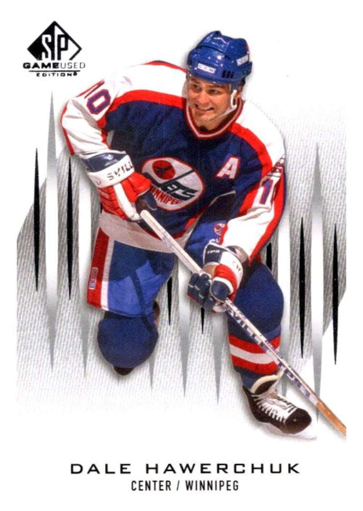 2013-14 Upper Deck SP Game Used #1 Dale Hawerchuk Winn Jets NHL Mint