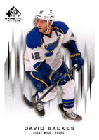 2013-14 Upper Deck SP Game Used #18 David Backes Blues NHL Mint