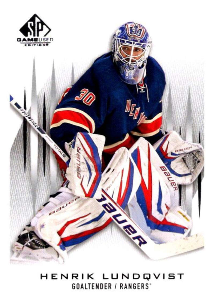 2013-14 Upper Deck SP Game Used #41 Henrik Lundqvist NY Rangers NHL Mint