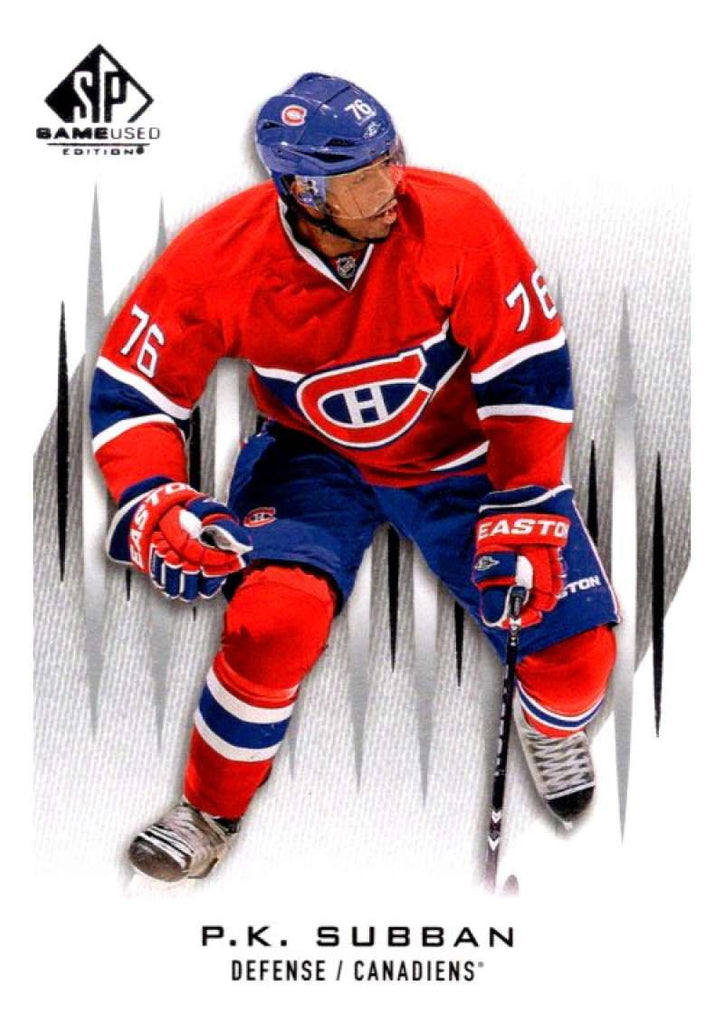 2013-14 Upper Deck SP Game Used #50 P.K. Subban Canadiens NHL Mint