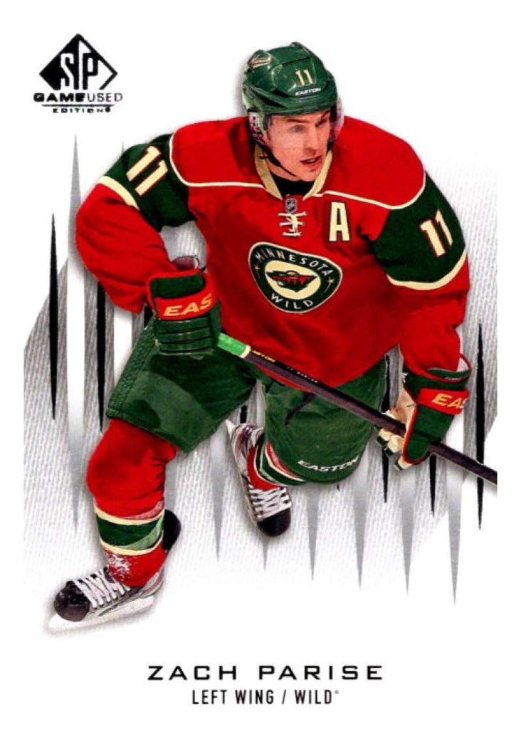 2013-14 Upper Deck SP Game Used #52 Zach Parise Wild NHL Mint