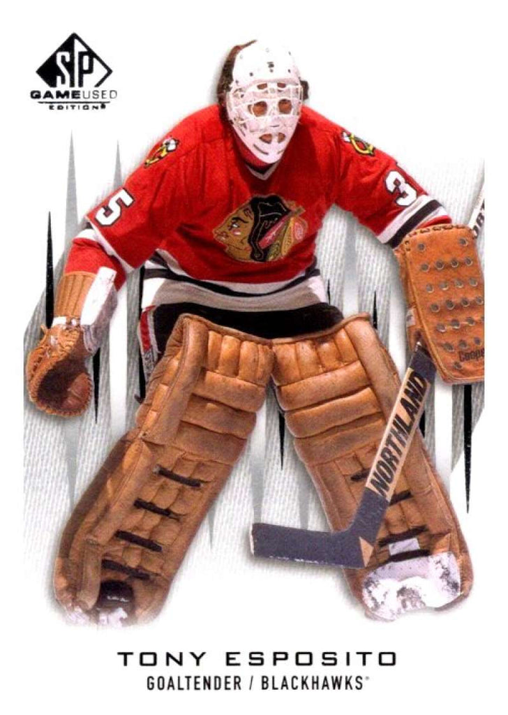 2013-14 Upper Deck SP Game Used #78 Tony Esposito Blackhawks NHL Mint