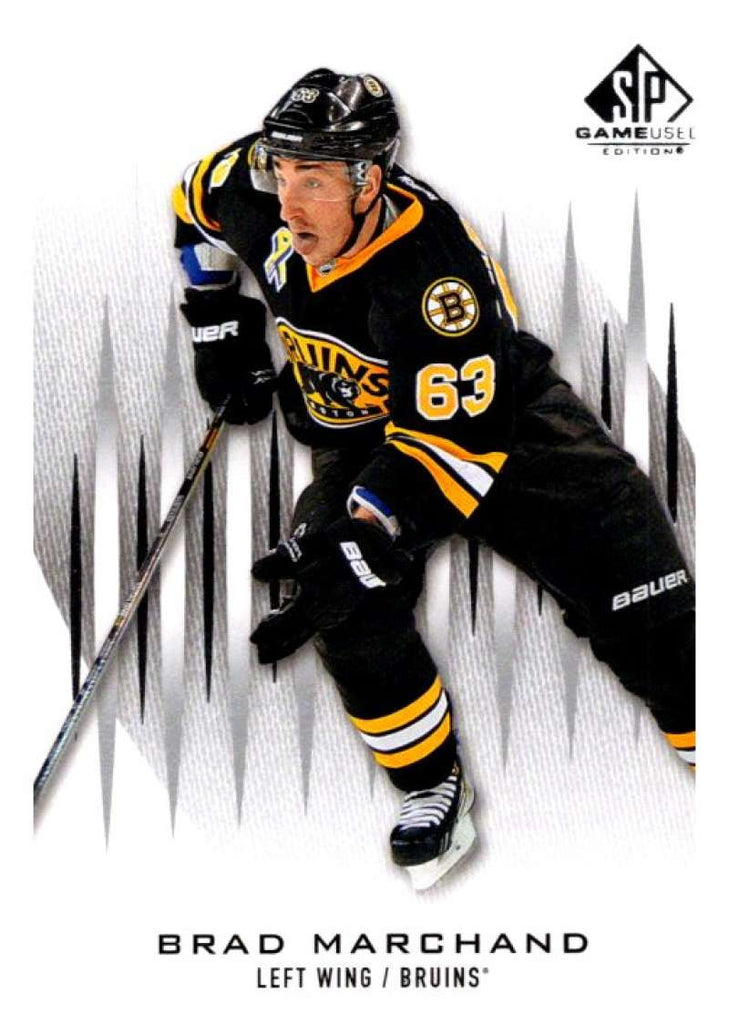 2013-14 Upper Deck SP Game Used #90 Brad Marchand Bruins NHL Mint