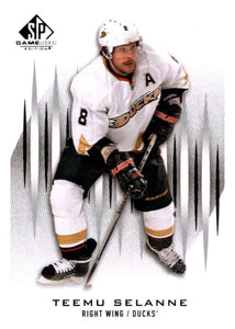 2013-14 Upper Deck SP Game Used #100 Teemu Selanne Ducks NHL Mint