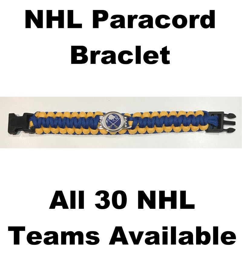 "Buffalo Sabres NHL Hockey Logo Paracord 8"" Bracelet - New in Package"