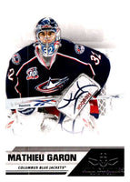 2010-11 Panini All-Goalies #22 Mathieu Garon Blue Jackets NHL Mint