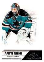 2010-11 Panini All-Goalies #72 Antti Niemi Sharks NHL Mint