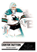 2010-11 Panini All-Goalies #75 Carter Hutton Sharks NHL Mint
