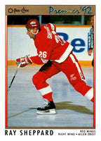 (HCW) 1991-92 OPC Premier #2 Ray Sheppard Red Wings NHL Mint