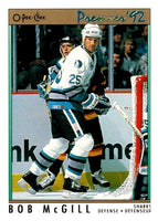 (HCW) 1991-92 OPC Premier #8 Bob McGill Sharks NHL Mint