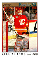 (HCW) 1991-92 OPC Premier #9 Mike Vernon Flames NHL Mint