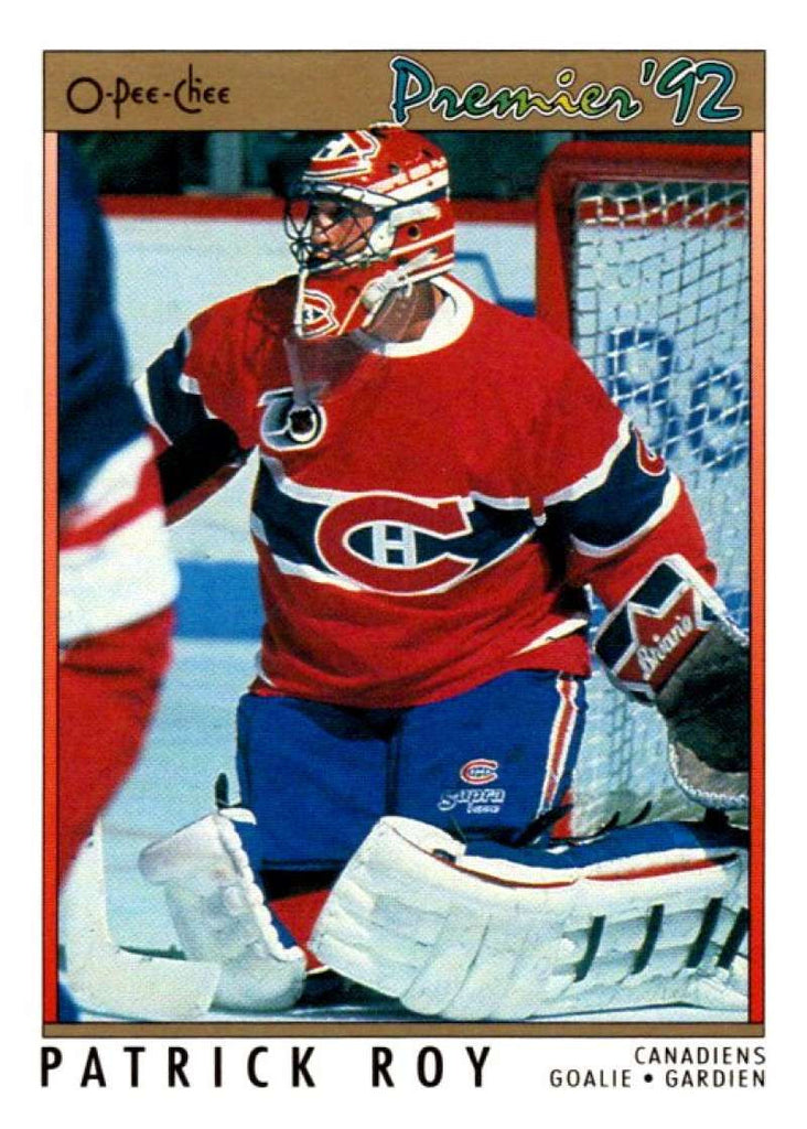 (HCW) 1991-92 OPC Premier #14 Patrick Roy Canadiens NHL Mint