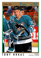 (HCW) 1991-92 OPC Premier #40 Tony Hrkac Sharks NHL Mint